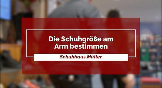 Schuhhaus Müller - Die Schuhgröße am Arm bestimmen